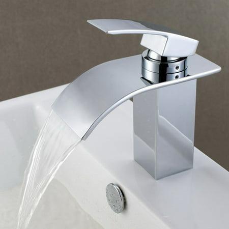 Sumerain International Group Deck Mount Waterfall Bathroom Sink ...