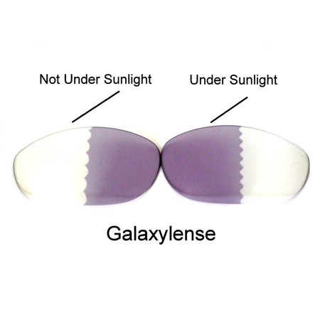 Galaxy Replacement Lenses for Oakley Whisker Photochromic Transition Change To Darker Grey (Transitions Photochromic Lenses)