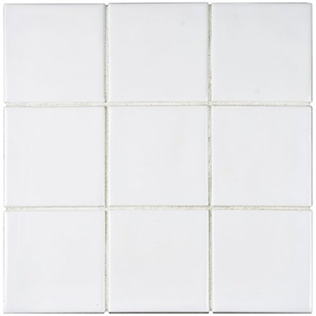 Somertile Wrc4twwi Torsio Square Ceramic Wall Tile 3 75 X Ice White