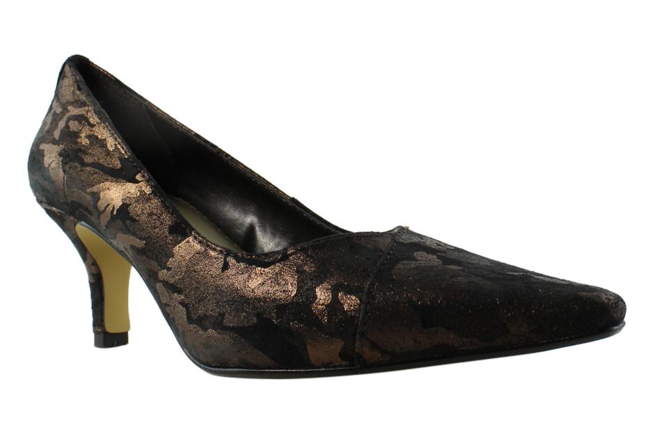 Bella Vita Womens Black BronzeCamo Pumps, Classic Heels Size 6 New by Bella Vita