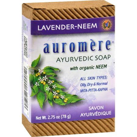 Auromere Bar Soap - Ayurvedic Lavender Neem - 2.75 (Best Ayurvedic Beauty Products)