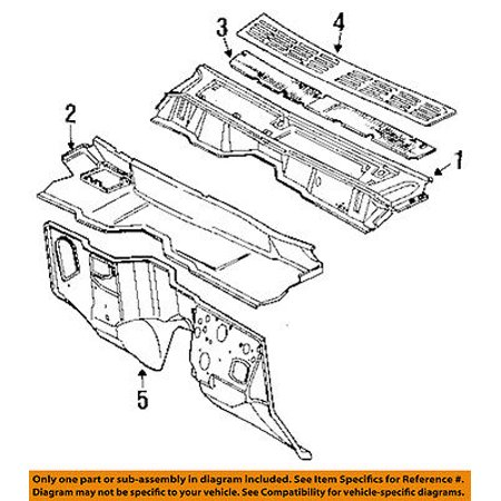 - Jeep CHRYSLER OEM 87-99 Cherokee Cowl-Grille 55008832