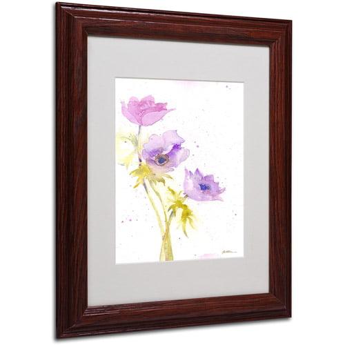 "Trademark Fine Art ""Trio"" Canvas Art by Sheila Golden, Wood Frame"