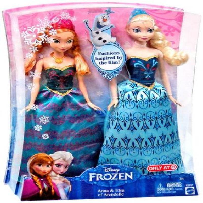 Disney Frozen Anna & Elsa Fashion Doll 2-Pack Limited Distribution