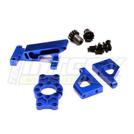 - Integy RC Toy Model Hop-ups T3285BLUE Brushless Conversion Motor Mount Set for 1/10 Revo 3.3 & Slayer(both)