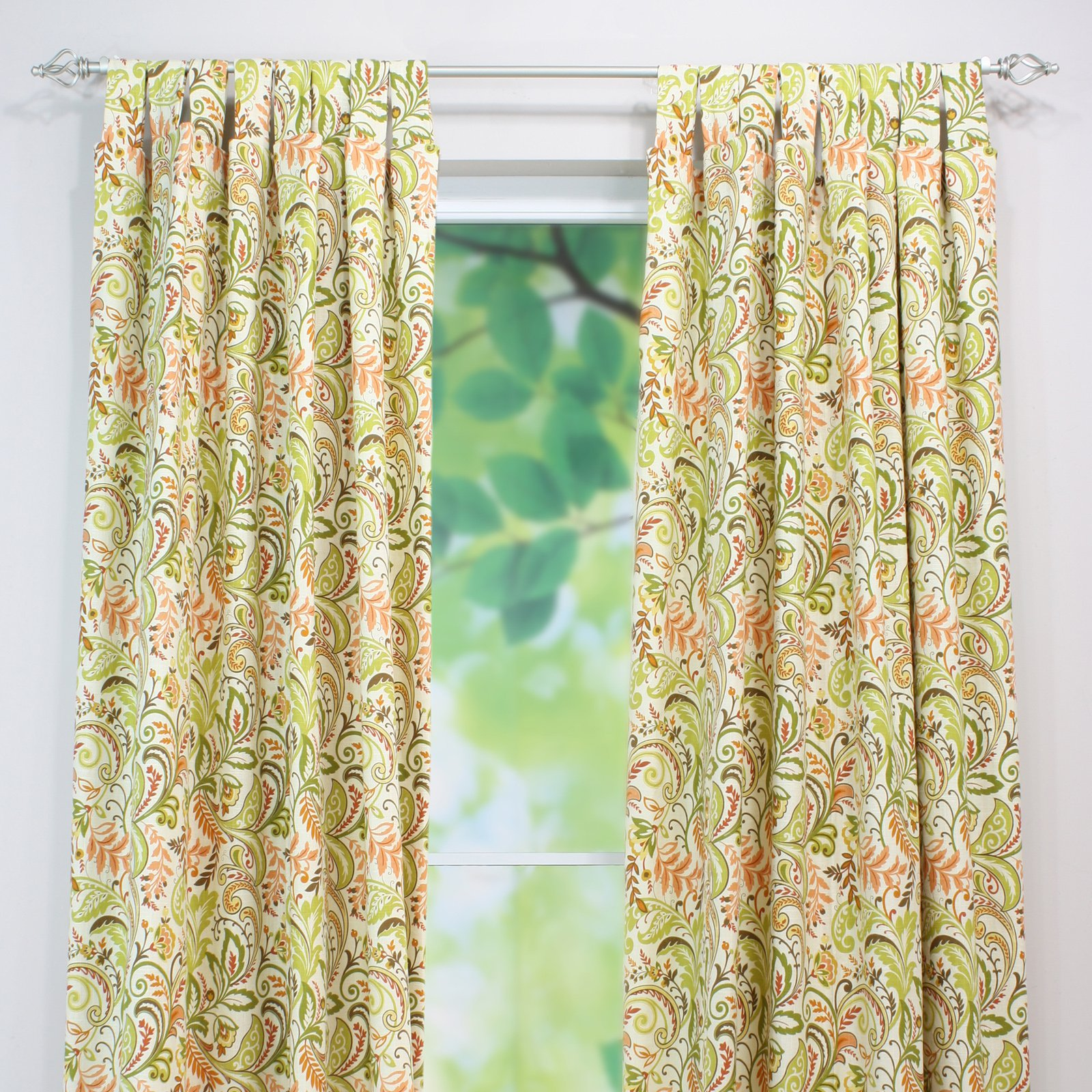 Brite Ideas Living Findlay Apricot Curtain Panel