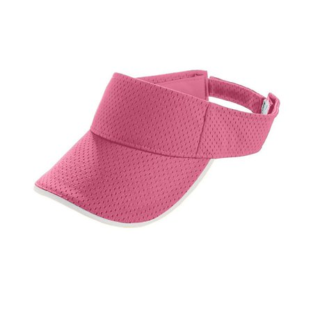 Augusta Sportswear Youth Athletic Mesh Two-Color Visor, Pink White, One Size