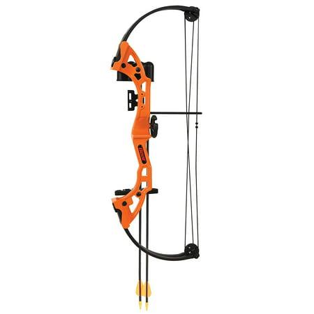 Kids Compound Bow, Orange Bear Archery Brave Girls Boys Beginner Bow Set
