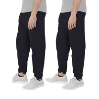 Deals on 2Pk Fruit Of The Loom Mens Eversoft Elastic Bottom Sweatpants