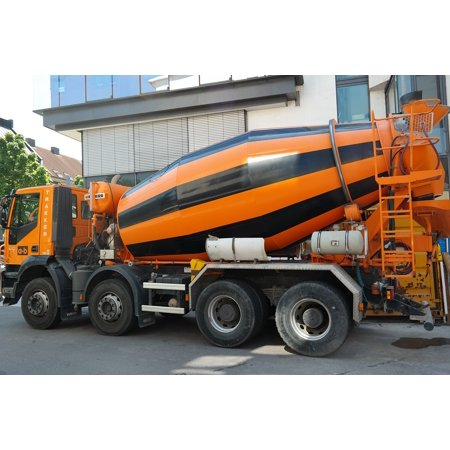 LAMINATED POSTER Concrete Mixing Vehicle Vehicle Concrete Mixer Poster Print 24 x 36