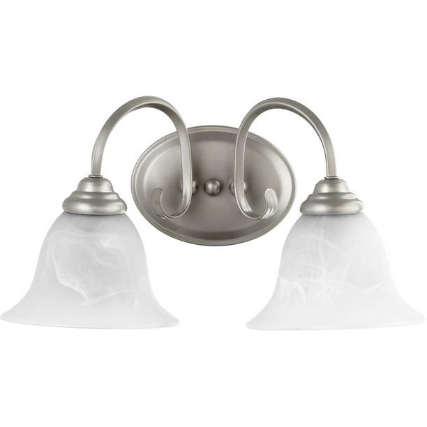 Quorum International 5110 2 64 Spencer 2 Light 17 Inch Classic Nickel Vanity Light Wall Light Walmart Com Walmart Com