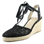adrianna papell penny   round toe canvas  espadrille