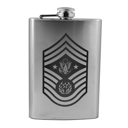 8oz Air Force Rank - Chief Master Sergeant of the Air Force - Flask L1 Chief Master Of The Air Force
