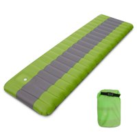 Inflatable Camping Mat Air Sleeping Pad with Built-in Foot Pump Inflating Ground Pad Mat Mattress Camping Backpacking Hiking Traveling