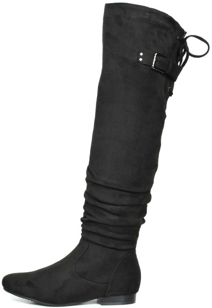 DREAM PAIRS Womens Thigh High Chunky Heel Platform Over The Knee Boots
