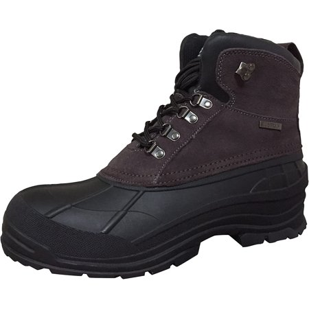 """Men's Winter Boots Leather 6"""" Insulated Hiking Snow Shoes"""