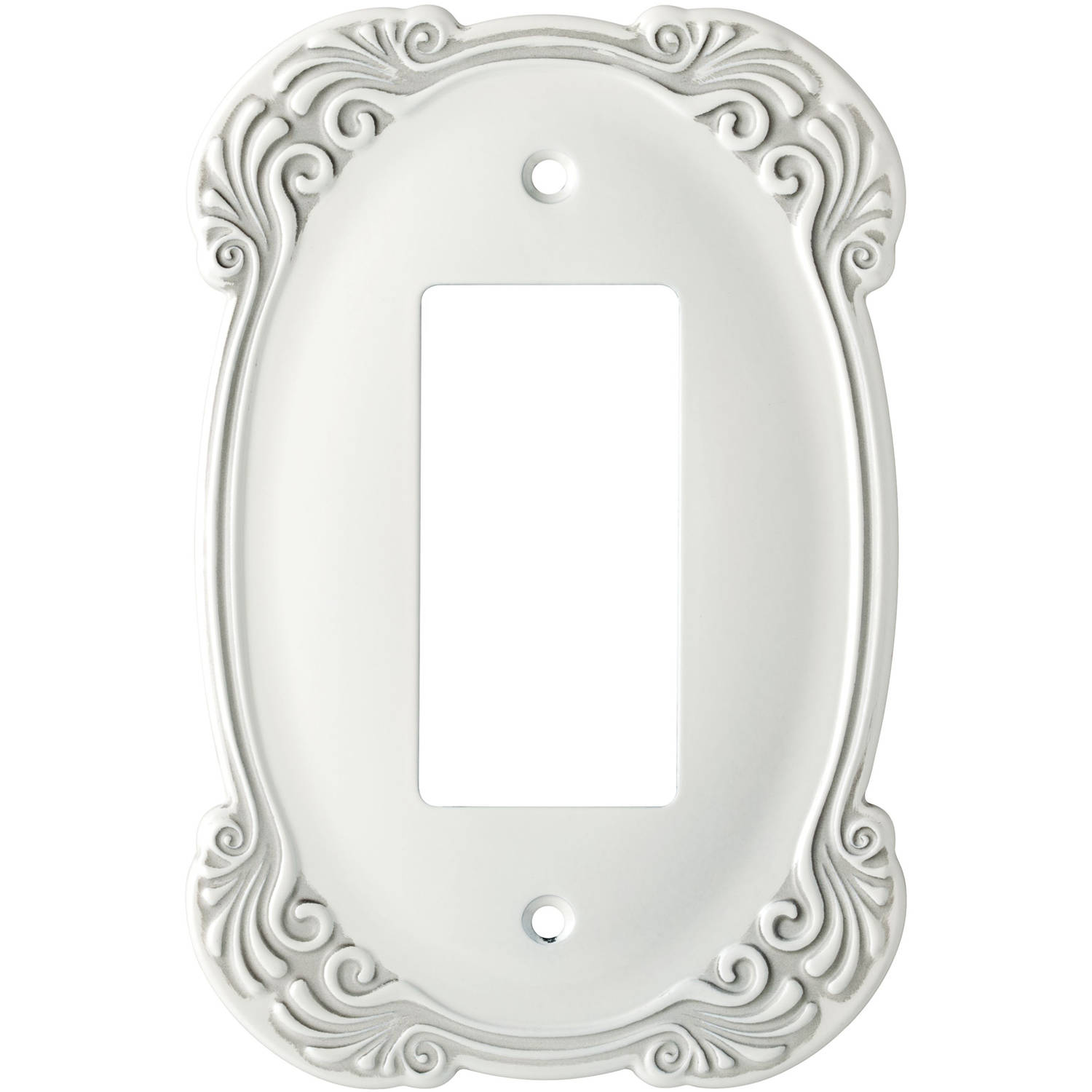 Franklin Brass Arboresque Single Decorator Wall Plate White Antique