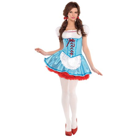 Costume With Red Hair (Suit Yourself The Wizard of Oz Dorothy Costume for Adults, Size Small, Includes Mini Dress, Hair Bows, and White)