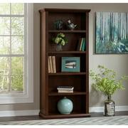 Bush Furniture Yorktown 5 Shelf Bookcase in Antique Cherry
