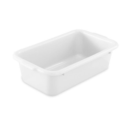 Vollrath 52657 White 20 x 15 x 7 Single Compartment Dish Box Single Compartment Dish