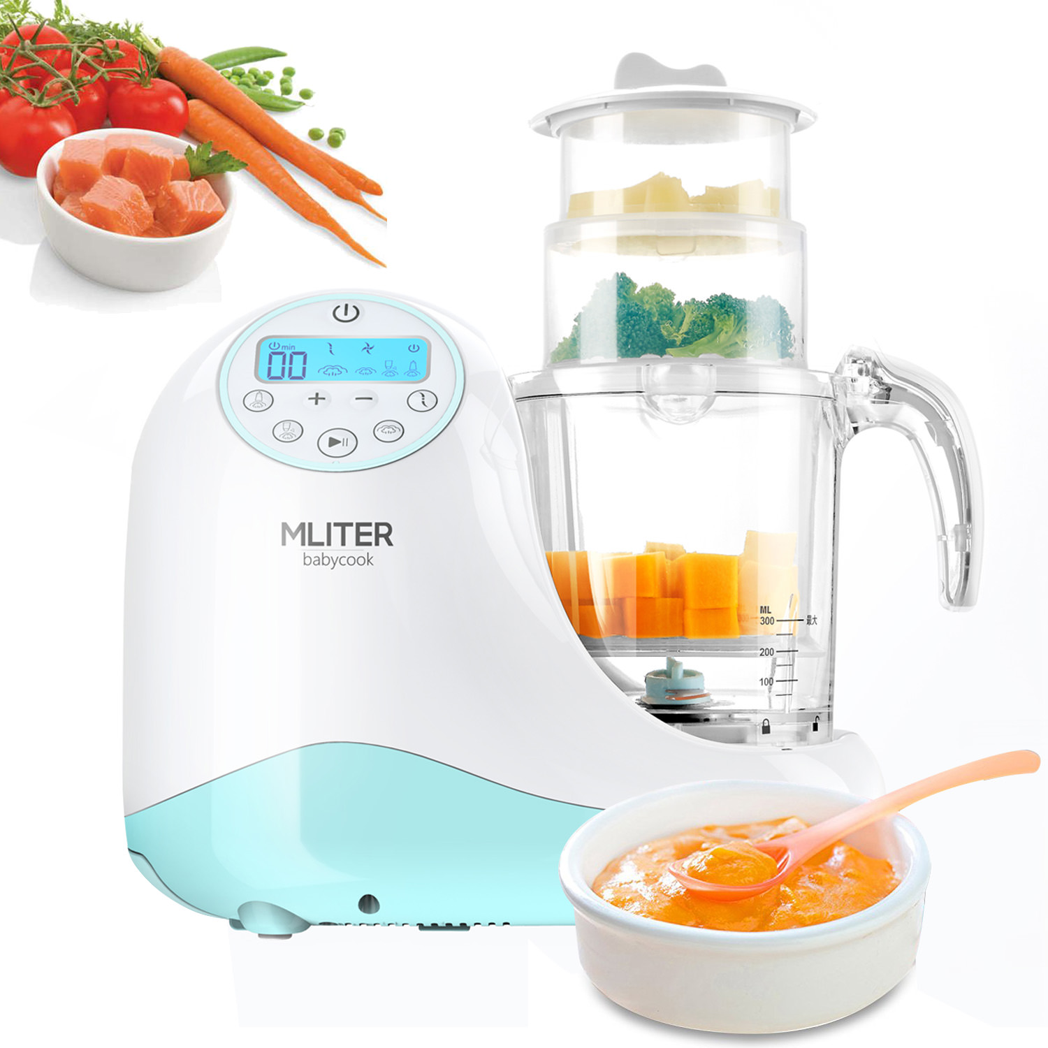 Baby Food Processor Chopper And Steamer 7 in 1, Food Maker For Toddlers With Automatic Steam, Blend, Chop,... by MLITER