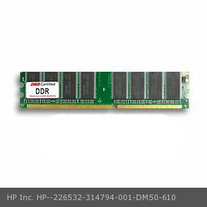 DMS Compatible/Replacement for HP Inc. 314794-001 Business Desktop dx6050 1GB DMS Certified Memory DDR PC2700 333MHz 128x64 CL2.5  2.5v 184 Pin DIMM - DMS