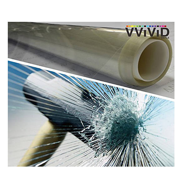 Anti-Shatter Safety Window Shield Film Clear Transparent Vinyl Film (3 Mil) VViViD - Choose Your Size