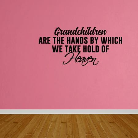 wall decal quote grandchildren home bedroom decor vinyl wall art