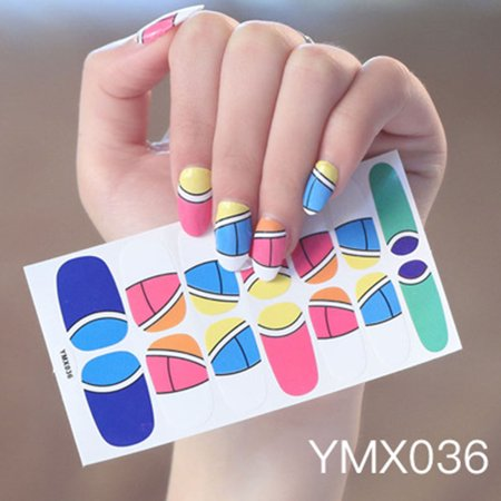 All-finger Sticker Korean Version Waterproof Durable Child Nail Sticker Environmental Nail Sticker Water Transfers Stickers Colorful Designs Decal DIY Nail Art Foil Tips Stencil