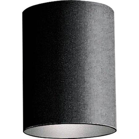 Black LED Outdoor Flush Mount Cylinder (31 Black Polymetric Cylinders)