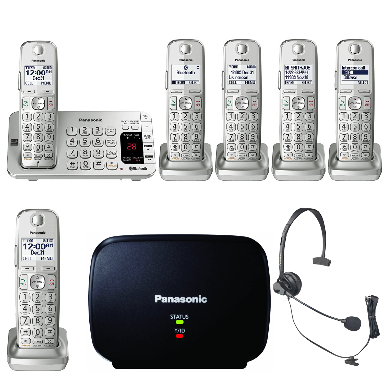 Panasonic KX-TGE475S Link2Cell Bluetooth Phone w/6 Handse...