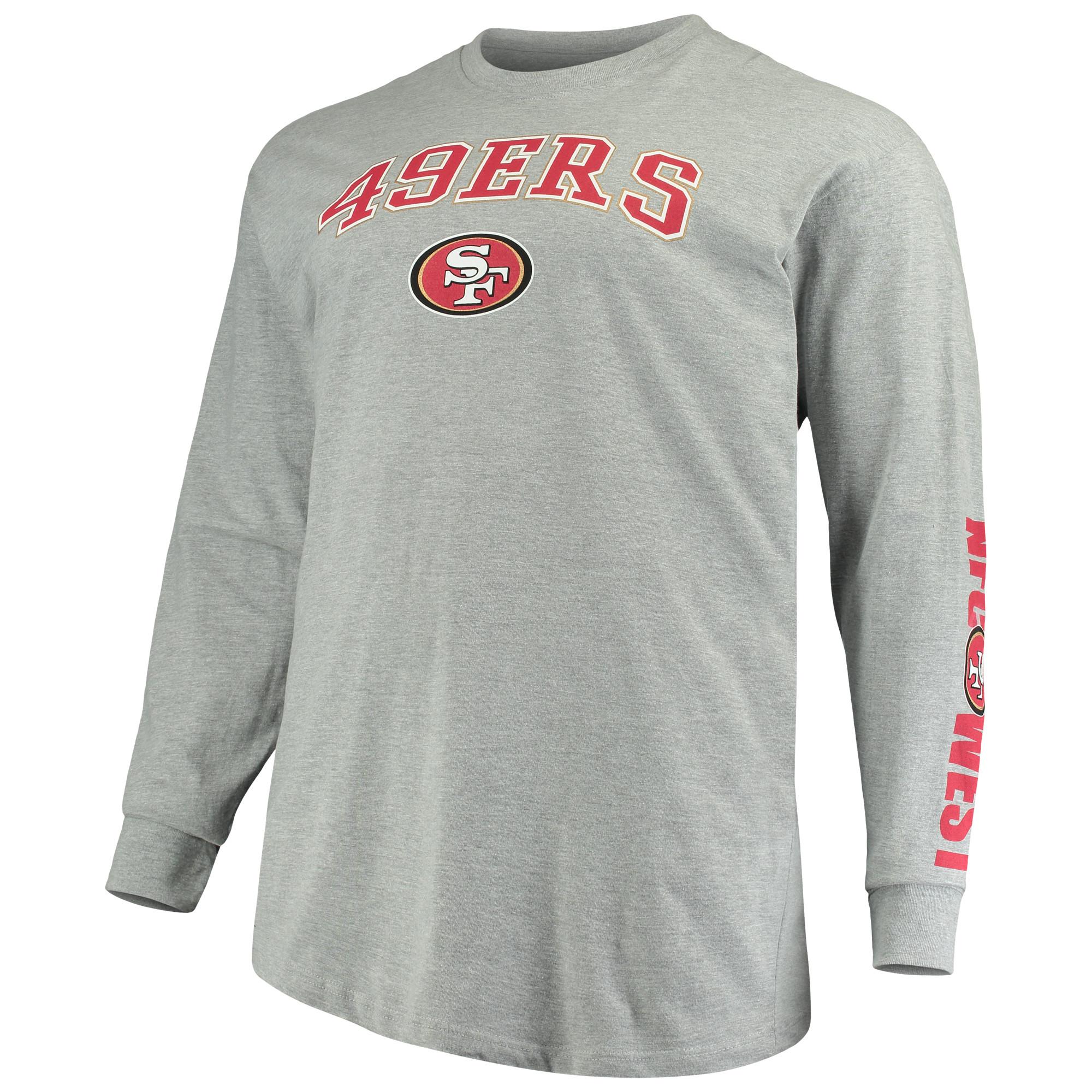 e68884f98f2 San Francisco 49ers Majestic Big   Tall T-Shirt Combo Set - Scarlet Heathered  Gray - Walmart.com