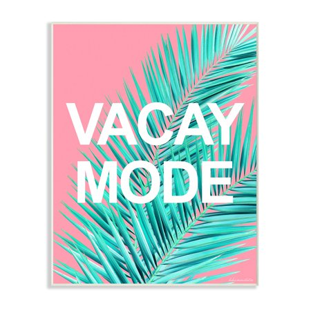 - The Stupell Home Decor Collection Vacay Mode Neon Palm Leaf Wall Plaque Art