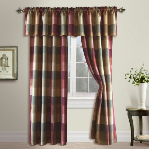 United Curtain Plaid Curtain Panel