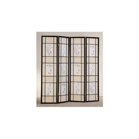 The Coaster Company Decorative Room Divider - 4 Panel Floral