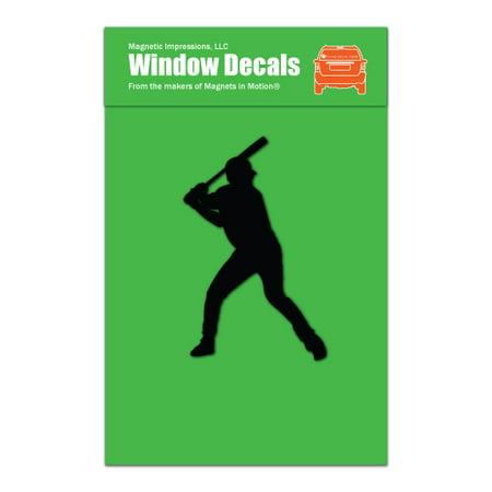 Baseball Batter Decal (Baseball Batter Car Window)