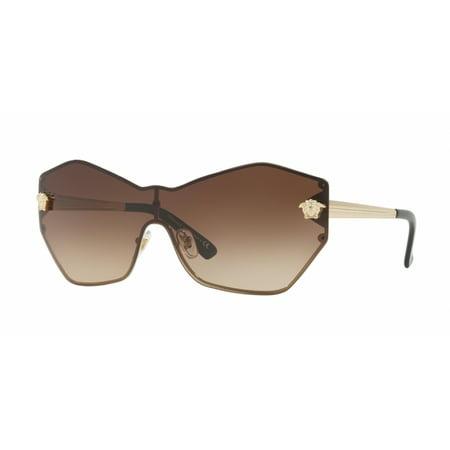 Versace 2182 Glam Medusa Shield Sunglasses 125213 (Versace Sunglass Case)