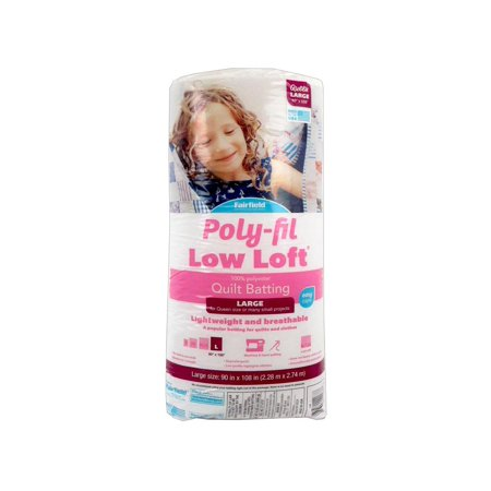 Poly-Fil Low Loft Queen Size Quilt Batting, 90
