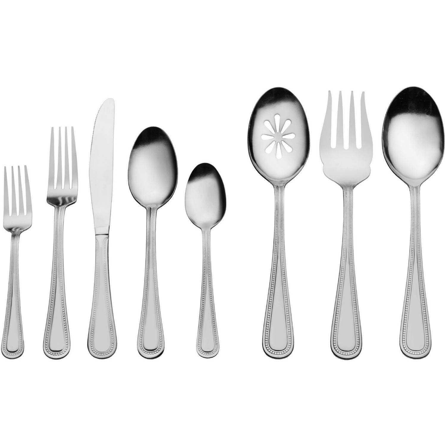 International Silver-Style Pearl 87-Piece Stainless Flatware Set