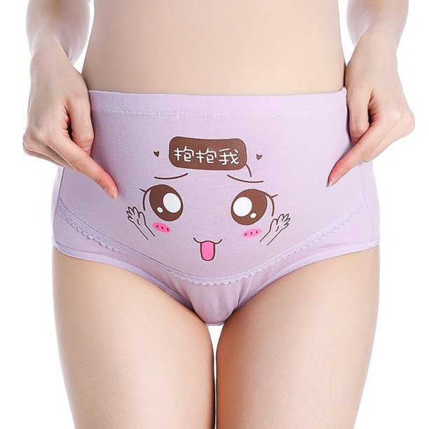Wisremt 4pcs Set Women Cotton Pregnant Panties High Waist Mother Support Women Cute Face Underwear Cartoon Postpartum Briefs Pregnancy Walmart Com Walmart Com