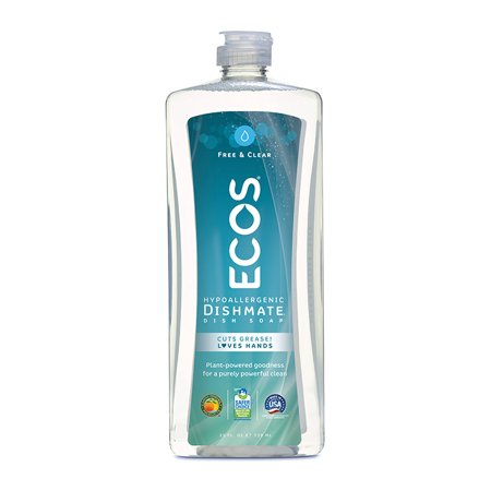 Earth Friendly Products ECOS Ultra Dishmate Hand Dish Soap, Free and Clear, 25oz