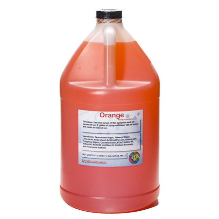 Orange Ready to Use Shaved Ice or Sno Cone Syrup - Orange Syrup