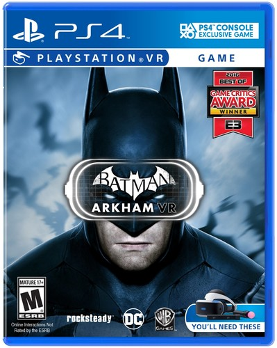 Batman Arkham VR, Warner, PlayStation 4, 883929560219 by WHV Games