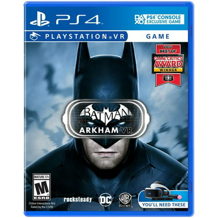 Batman Arkham VR, Warner Bros, PlayStation 4, 883929560219