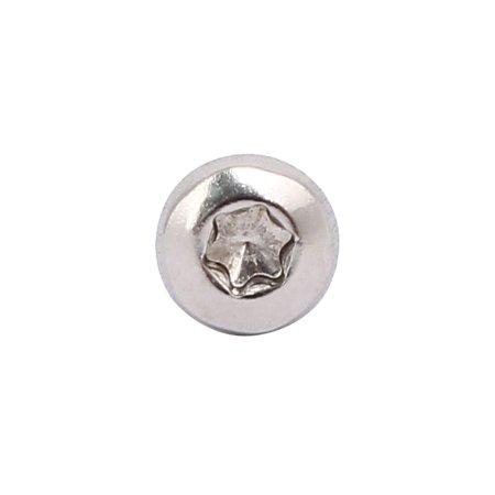 M3x12mm 304 Stainless Steel Button Head Torx Screws Bolts T10 Drive 150pcs - image 2 de 3