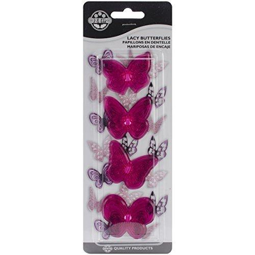 PME 4-Piece Plastic Cutter Set, Lacy Butterflies