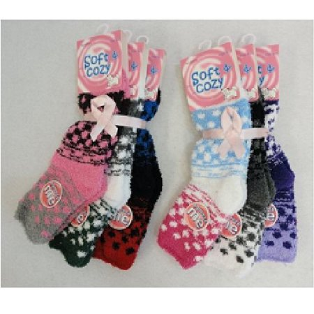 WHOLESALE LOT 10 PAIR  WARM WOMENS JUNIORS FASHION FUZZY SOCKS for $<!---->