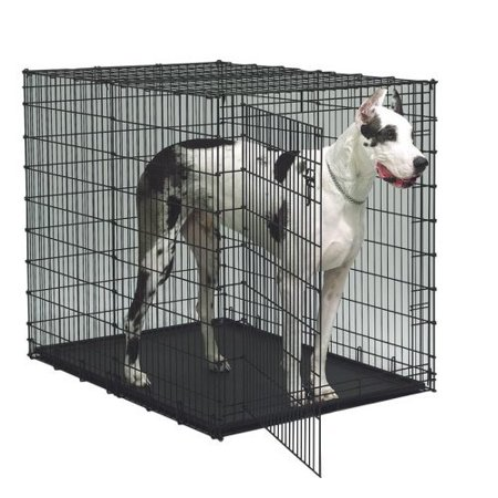 Midwest starter series 54 inch single door dog crate for Dog cage cost