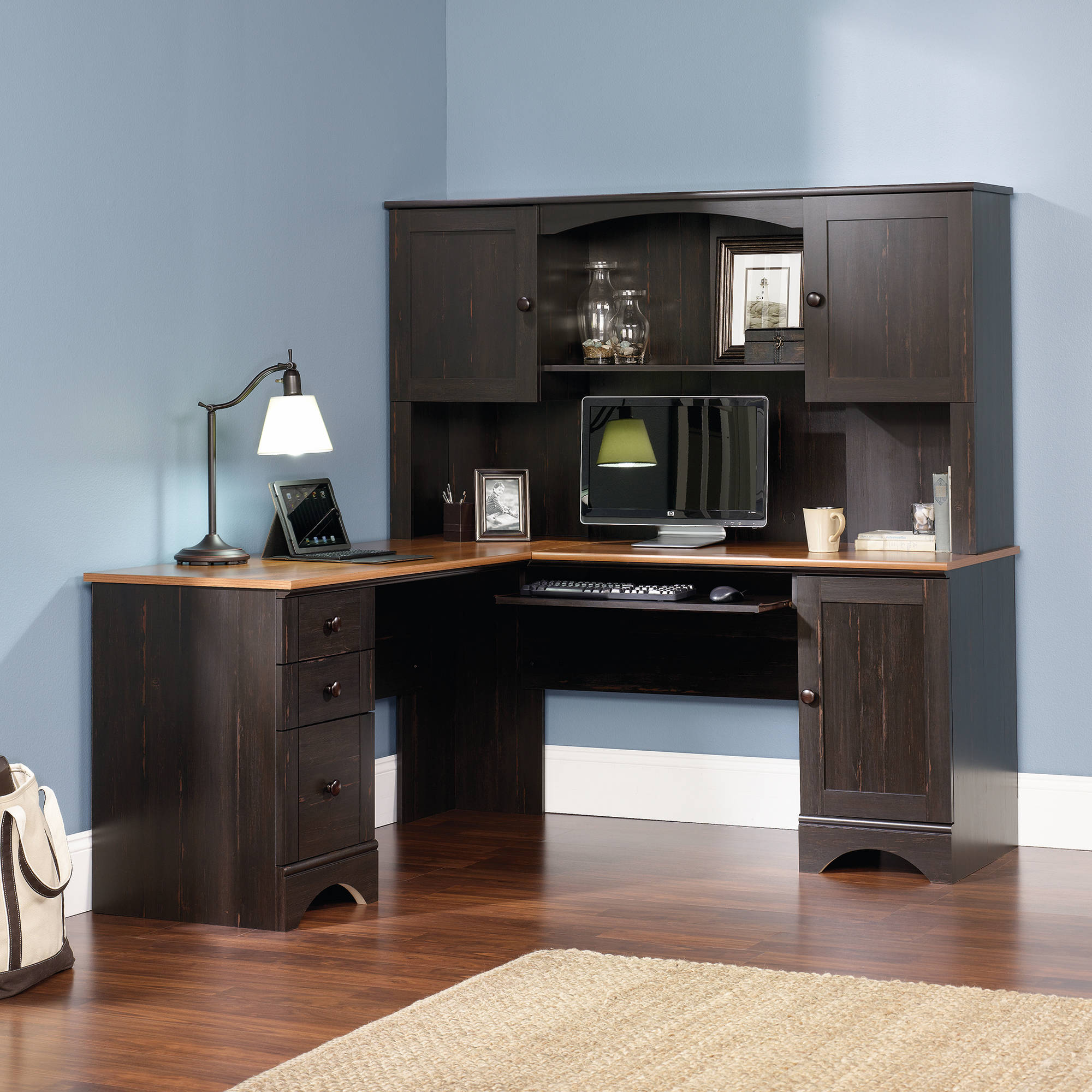furniture of surprising the desk in decor choice home sauder elegant corner bush image
