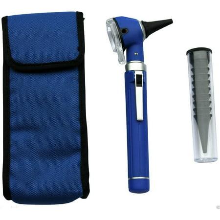 Compact Pocket Size Fiber Ent Optic Otoscope Blue Color